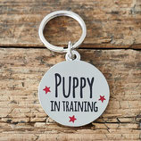 Sweet William Dog Tag Puppy in training