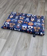 Heimtierdecke mit Hundemotiv und Füllung blau 65x95cm