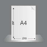 Briefbogen DIN A4 auf 120g/qm PrePrint, bedruckt im Offsetdruck 4/0-fbg. Euroskala