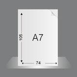 Flyer DIN A7, 4/4-farbig Euroskala oder 4/0-fbg.