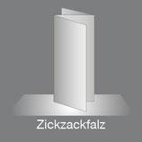 Folder DIN A5 Hoch 6 Seiten Zick-Zack Falz/Leporellofalz, 4/4-farbig Euroskala+Dispersionslack matt