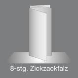 Folder DIN Lang Hoch 8 Seiten Zick-Zack Falz/Leporellofalz, 4/4-farbig Euroskala+Dispersionslack matt