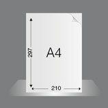 Briefbogen DIN A4 auf 90g/qm Pioneer PrePrint, bedruckt im Offsetdruck 4/0-fbg. Euroskala
