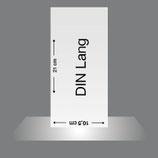 Flyer DIN Lang, 4/4-farbig Euroskala oder 4/0-fbg.