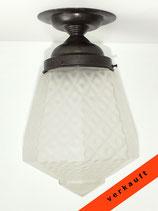Art Deco Deckenlampe mit schönem Glasschirm - Originalerhaltme