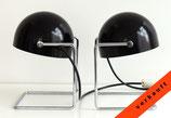 2 Art Deco Tischleuchten - Halbkugelschirme