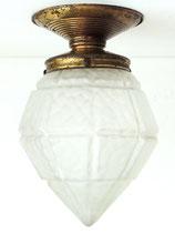 Art Deco Deckenlampe mit Glasschirm – Originalerhalt (2)