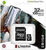 Scheda microSD Canvas Select Plus con adattatore 32/64gb Kingstone