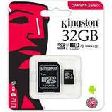 Scheda microSD Canvas Select con adattatore 32/64/128gb