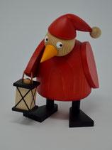 Weihnachtshuhn mit Laterne stehend groß