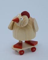 """"""" verrücktes Huhn """" auf Skateboard"""