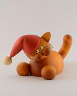 Charlie auf der Lauer mit Weihnachtsmütze groß