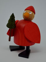 Weihnachtshahn mit Baum stehend groß