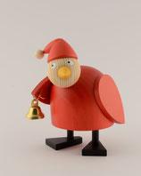 Weihnachtshuhn mit Glocke stehend