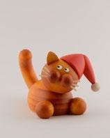 Charlie auf der Lauer mit Weihnachtsmütze