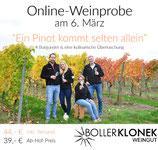 Ein Pinot kommt selten allein - Online-Weinprobe *LIVE*