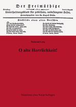 """Lang, """"O alte Herrlichkeit!"""""""