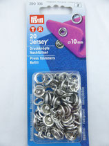 RECHARGE BOUTON PRESSION 'JERSEY' 10 MM COLORIS NICKEL PRYM 390 106