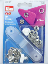 BOUTONS PRESSION 'JERSEY' 10 MM COLORIS NICKEL PRYM 390 107