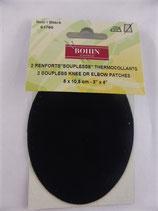 RENFORTS IMITATION DAIM NOIR BOHIN 61766