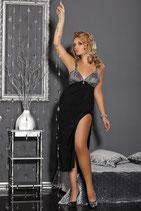 schwarzes langes Abendkleid D von Andalea Dessous