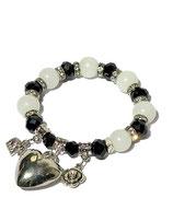 Armband, schwarz/ weiss  von Madame Butterfly