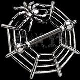 Brustwarzenpiercing aus 925 Silber mit Motiv