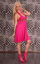 Neckholder Sommerkleid mit Perlen pink