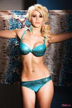 türkiser Balconnet Bikini 12004 von Sanselle