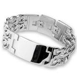 Breites doppelreihiges Armband für Männer und Frauen
