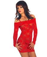 Negligé Mini-Kleid rot