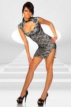 Kleid 11888 schwarz/weiss