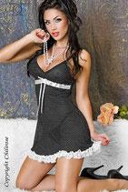 Babydoll + String schwarz/weiß CR3170