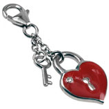 Charm-Anhänger Schlüssel und Herz aus Silber