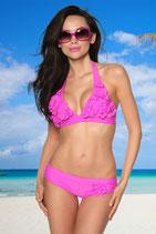 Blümchen Bikini, gepaddet, pink