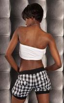 SeXy Pump Hotpants mit Karo Muster