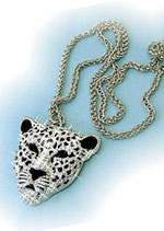 Strasskette Leopard