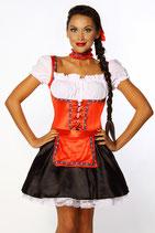 Dirndl 12104 rot/schwarz/weiß