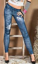 Leggings Jeans-Look
