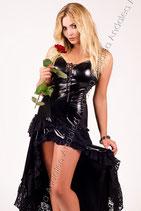 Schwarzes Wet-Look-Kleid von Andalea
