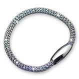 Armband aus Edelstahl im Milanese-Stil mit Magnetverschluss aus 925 Sterling Silber