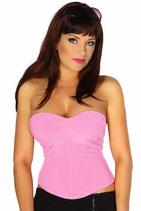 Bandeau Top mit Schnürung rosa