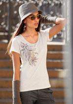 T-Shirt creme mit Muster von Chillytime
