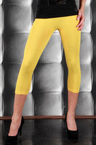 Color 3/4 Capri Leggings Gelb