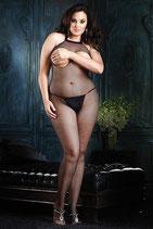 Netz-Catsuit mit Open Breast und ouvert Plus Size