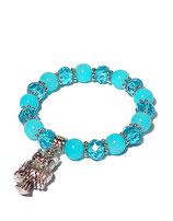 Armband, türkisblau von Madame Butterfly
