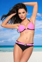Push-Up Bikini schwarz/rosa