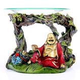 Rot & Goldener Glücklicher Buddha als Duftlampe