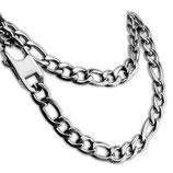 Schwere FIGARO Halskette aus Edelstahl in 3 verschiedenen Längen