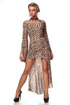 Abendkleid Rückenfrei Leopard